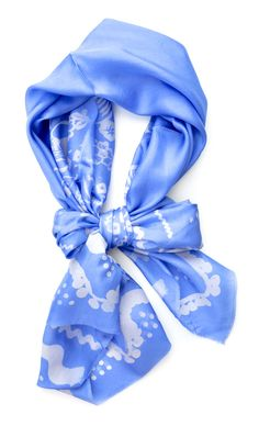 Fiesta Scarf in Cornflower |Pinned from PinTo for iPad|