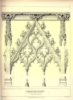 James Kellaway Colling. Plates from Colling's Gothic Ornament 1847 - Gothic Architectural ornaments #gothicarchitecture