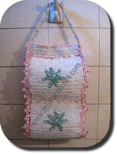 Porta rollo para papel sanitario en tejido crochet. http://www.tejidocrochet.com/2013/05/14/porta-rollo-papel-higienico-en-tejido-crochet/ - Moda a Crochet - Google+