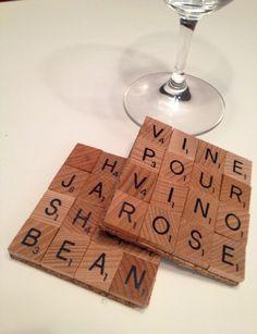 Scrabble Tile Coaster