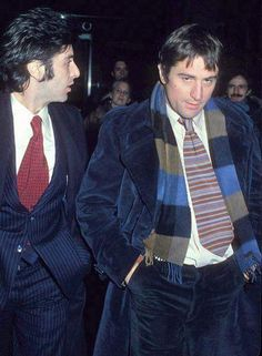 cynema:    Al Pacino and Robert De Niro at the premiere of The Godfather Part II (1974)