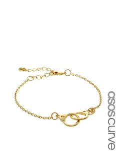 ASOS CURVE Handcuff Ditsy Bracelet