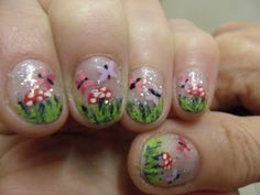 butterfly toadstool and grass nails