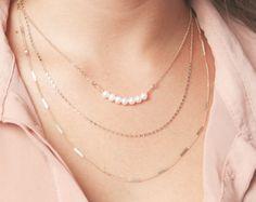 Collar de capas oro set flaco Vertical Bar triángulo collar