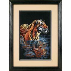 Counted Cross Stitch Kit - Tiger Chilling Out