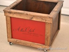 Wooden Shipping Crate Toy Box
