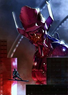 Galactus & the Silver Surfer.