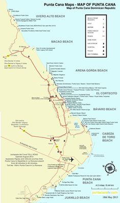 This Punta Cana resorts location map provides detailed information ...