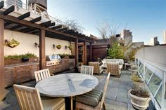 Love this rooftop deck in NYC.