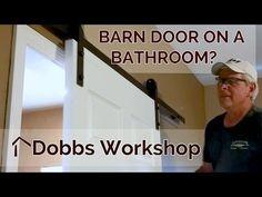 Installing a Barn Door Style Sliding Door on a Bathroom - YouTube