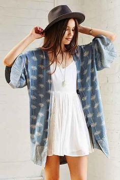 Thistlepearl Printed Kimono - Urban Outfitters