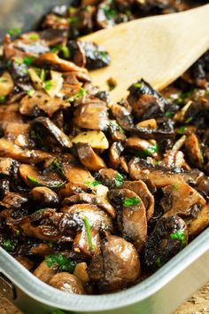 These roasted garlic mushrooms go with practically anything: on toast, mixed into some fresh pasta, or even in an omelet!