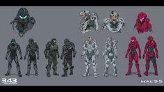 Halo 5 developer 343 Industries has kindly given us a look at some of the concept art used to inspire and set the visual tone for Master Chief's latest adventure, complete with notes from artists. Halo 5, Character Concept, Concept Art, Character Design, Motion Design, Halo Spartan, Halo Series, Caleb, Sci Fi Armor