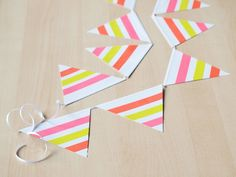 DIY summer garland w