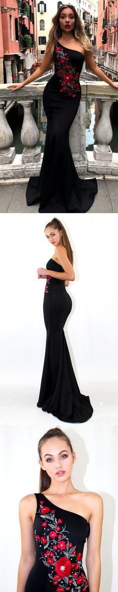 Mermaid Prom Dresses, One-Shoulder Prom Dresses#okbridal#promnight