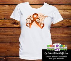 Appendix Cancer Heart of Hope Ribbon Shirts - Cancer Apparel and Gifts Leukemia Awareness, Cancer Awareness Shirts, Awareness Ribbons, Endometrial Cancer, Super Hero Shirts, Ribbon Shirt, Childhood Cancer, Thyroid Cancer, Colon Cancer