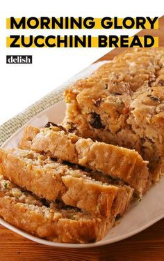 Glory Zucchini Bread This Zucchini bread is so amazing, you won't believe it has a full serving of veggies in a slice! Get the recipe at .This Zucchini bread is so amazing, you won't believe it has a full serving of veggies in a slice! Get the recipe at . Fruit Bread, Dessert Bread, Scones, Baking Recipes, Dessert Recipes, Cleaning Recipes, Zucchini Bread Recipes, Zuchinni Bread, Zucchini Bread With Pineapple