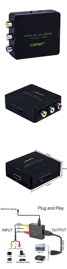 Video Cables and Interconnects: Csret Full Hd 3 Rca Cvbs Composite Av To Hdmi Converter Adapter Upscaler 1080P -> BUY IT NOW ONLY: $30.8 on eBay!
