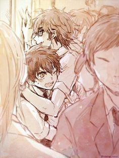 Miyuki & sawamura  #Miyusawa  Miyuki save sawamura in train ahh so cute *-*