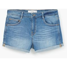 Medium Denim Shorts ($29) ❤ liked on Polyvore featuring shorts, short, bottoms, pants, denim short shorts, mango shorts, short shorts, zipper shorts and jean shorts