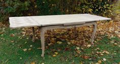 Large French Extending Bleached Oak Dining Table