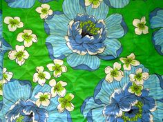 Queen or full bedspread in a pretty retro graphic by KimBuilt, $55.00