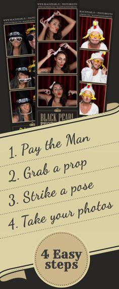 4 easy steps! #photobooth