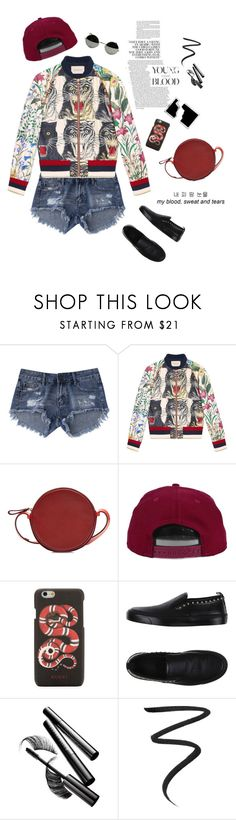 """""""Patchwork: for the wild"""" by mountainrose ❤ liked on Polyvore featuring Gucci, Diane Von Furstenberg, H&M, Chantecaille and Eyeko"""