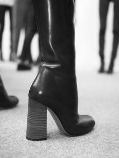 Suited and booted – the season's boot features a fuller block heel