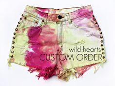 WILDHEARTS Vtg Denim Shorts Custom Made to by WildHeartsShorts, $40.00