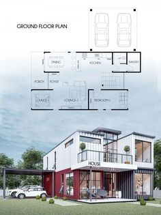 Tiny Container House, Sea Container Homes, Building A Container Home, Modern Prefab Homes, Modular Homes, Porch And Foyer, Castle Project, Challenge, Shipping Container Home Designs
