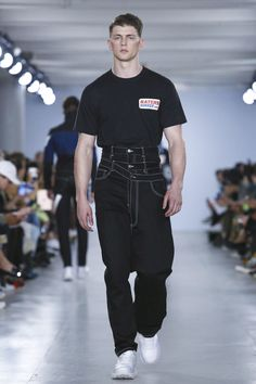 Christopher Shannon, a designer who's championed and subverted the whole notion of streetwear in equal parts, reinvigorated his familiar tracksuits in tautly cut, indigo denim this season.&nb...