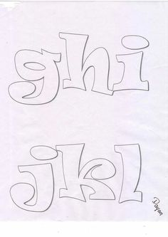 Abc recortar Graffiti Lettering, Block Lettering, Letter And Number Stencils, Wooden Monogram Letters, Art Du Monde, Calligraphy Tutorial, Owl Templates, Graffiti Designs, Bubble Letters