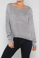 Warm Knitted Sparkle Sequin Sweater, Grey