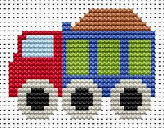 Sew Simple Truck cross stitch kit [SS-TK] Ideal for beginners however please ensure young stitchers are supervised.  These kits introducing symbols on to charts, but still with colour blocks, for those who are learning how to cross-stitch. Finished size approx 7.6cm x 5.7cm. Kit contains11ct white aida fabric, stranded embroidery cotton, needle, colour chart and instructions. A brand new kit will be sent directly to you by Fat Cat Cross Stitch - usually within 2-4 working days © Fat Cat ...