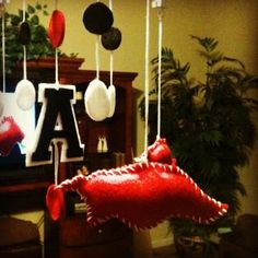 Arkansas razorback Baby Mobile by LaineybelleBoutique on Etsy, $65.00