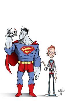 Bizarro & Jimmy Olsen by Gustavo Duarte #Superman