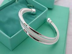 """'Classic Bevel Edge Silver Plated Cuff Bracelet' is going up for auction soon this morning, Tue, Sep 3 in the """"Daily Bazaar"""" auction with a starting bid of $1."""