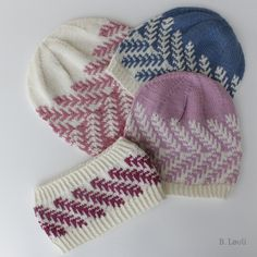 Ravelry: Spire Lue og Pannebånd pattern by StrikkeBea Knit Mittens, Knitted Hats, Ravelry, Headband Pattern, Drops Design, Knitting Stitches, Hue, Knit Crochet, Winter Hats