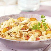 Weißkohl-Kartoffel-Pfanne