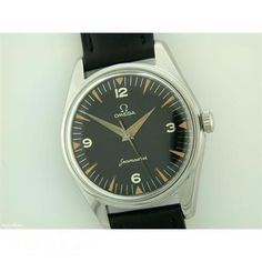 8aa6eaa3418 1958 Gents Omega Seamaster steel manual on strap  omega  watches  vintage   jeweller