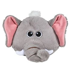 """This elephant animal pillow would be a cute addition to a jungle themed bedroom or nursery or a great gift idea to an animal-lover. Pillow measures 11""""."""