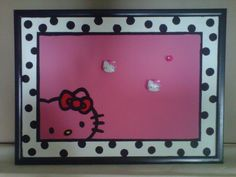 Hello Kitty Painted Cork Board for girls room/dorm room - Home Decor - Decorating Ideas - HGTV Share My Craft