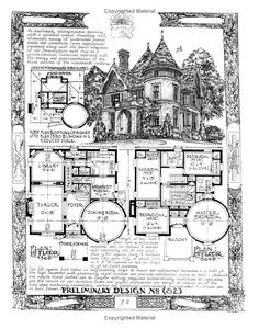 4 bedroom Victorian, The Affordable House, David John Carnivale. Victorian House Plans, Vintage House Plans, Victorian Homes, Dream House Plans, House Floor Plans, Building Plans, Building A House, Building Ideas, Storybook Homes