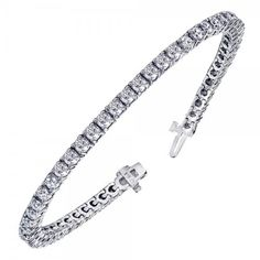 Amazon.com: 6.00 CT TW 4 Prong Round Diamond Tennis Bracelet in 14k White Gold (F-G-color/VS2-SI1-clarity): Tennis Bracelets For Women: Jewelry