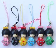 wholesale 60 pcs Japanese kokeshi doll mobile phone strap Charm / Mobile Phone Straps-in Mobile Phone Straps from Phones & Telecommunications on Aliexpress.com | Alibaba Group