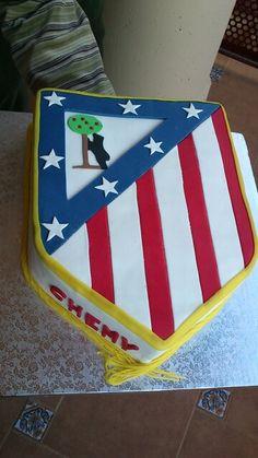 Tarta escudo Atlético de Madrid