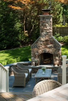 Creative Outdoor Fireplace Designs and Ideas Patio Steinkamin www. Rustic Outdoor Fireplaces, Outdoor Fireplace Patio, Outside Fireplace, Patio Pergola, Outdoor Fireplace Designs, Backyard Patio, Fireplace Ideas, Rustic Outdoor Decor, Ideas