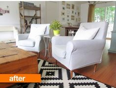 Before & After: IKEA Jennylund Chairs Get an MCM Makeover