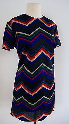 True-Vintage-Chevron-Print-Mod-Mini-Dress-60-s-1960-s-Short-Sleeve  #Shop this and other amazing pieces from my #blog closet on my #eBay store www.ShopGingersCloset.com